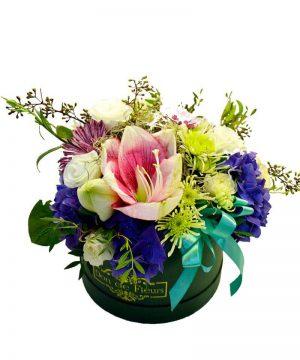 "Aranjament floral ""Amarylis Box"""