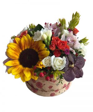 "Aranjament floral ""Sunrich Box"""