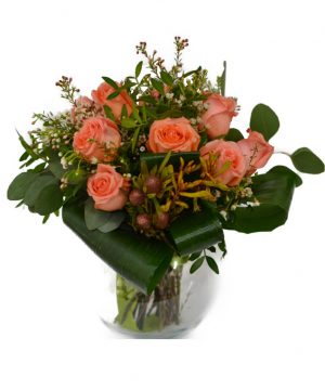 Buchet cu 11 trandafiri portocalii