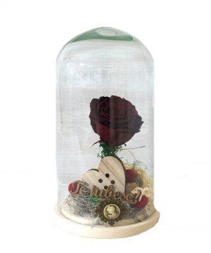 Cupola cu trandafir criogenat roșu
