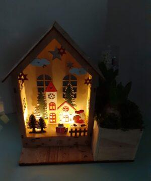 Aranjament Crăciun tip Casuță