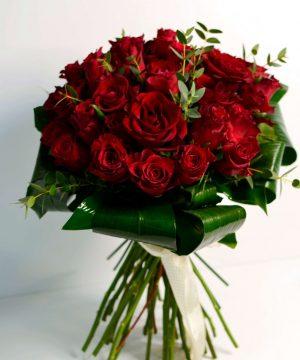 Buchet cu 41 trandafiri roșii